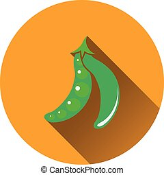 Pea icon Flat design Vector illustration