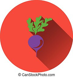 Radishes icon Flat design Vector illustration