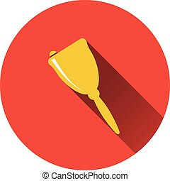 Flat design icon of School hand bell in ui colors. Flat...