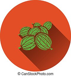Gooseberry icon Flat design Vector illustration