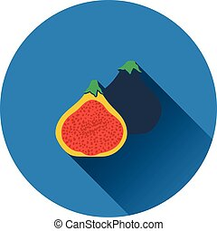 Fig fruit icon. Flat design. Vector illustration.