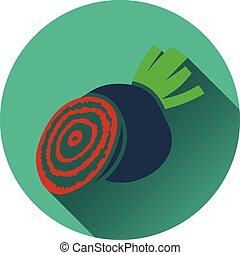 Beetroot icon Flat design Vector illustration