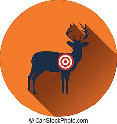 Icon of deer silhouette with target