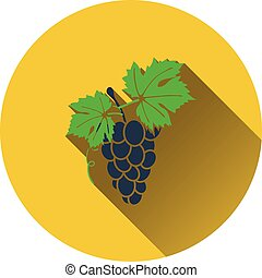 Grape icon Flat design Vector illustration