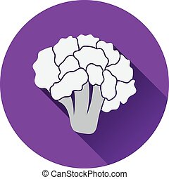 Cauliflower icon Flat design Vector illustration