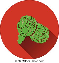 Artichoke icon. Flat design. Vector illustration.