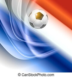 Football background with france flag colors. Vector...
