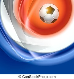 Football background with france flag colors Vector...