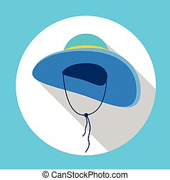 Hat Summer Icon Colorful Flat Vector Illustration