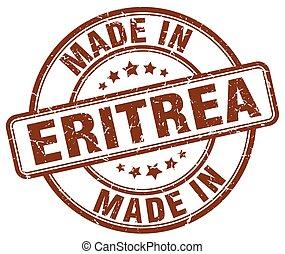made in Eritrea brown grunge round stamp