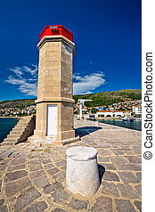 Lighthouse in Adriatic town of Senj, Primorje region of...