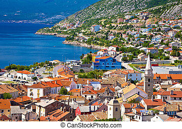 Town of Senj architecture and coast, Primorje region of...