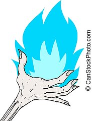 blue flame - Creative design of blue flame
