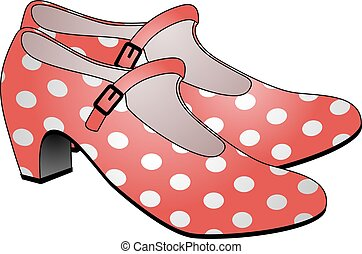 flamenco shoes illustration - Creative design of flamenco...