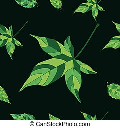 Pattern with ivy leaves