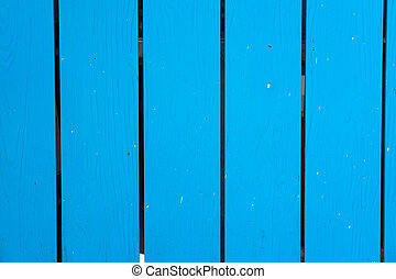 Textured wood planks painted in blue