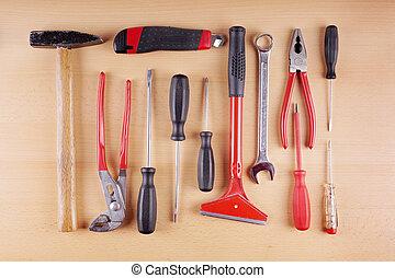 work tool set - diy work tool set or kit as flat lay
