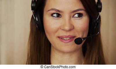Young female call centre agent
