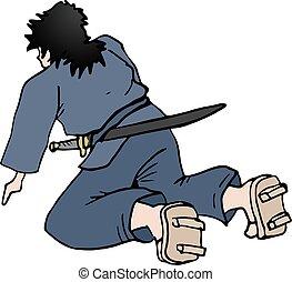 sit samurai draw - Creative design of sit samurai draw