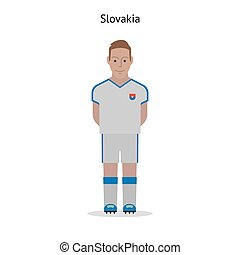 Football kit Slovakia soccer player form Vector illustration...