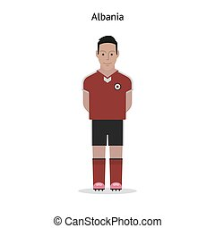 Football kit Albania soccer player form Vector illustration...