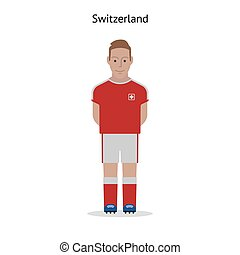 Football kit Switzerland soccer player form Vector...