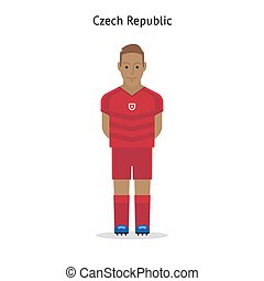 Football kit. Czech Republic soccer player form. Vector...