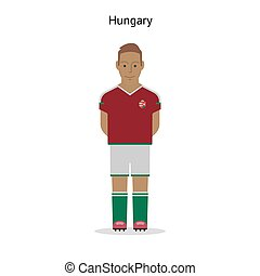 Football kit Hungary soccer player form Vector illustration...