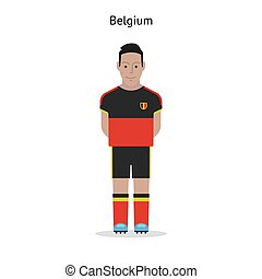 Football kit Belgium soccer player form Vector illustration...
