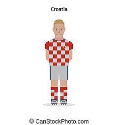 Football kit. Croatia soccer player form. Vector...