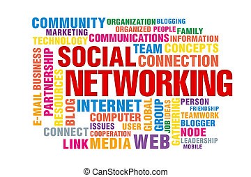 social networking concept of new media communication, image...