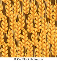 Seamless pattern with wheat Agricultural image natural...