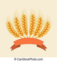 Bunch of wheat, barley or rye ears Agricultural image for...