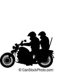 Two men and bike