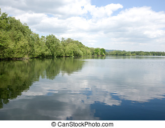 Cloud Reflections - Reflections of clouds in a calm lake