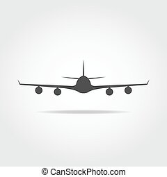 Front plane icon