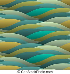 Background of abstract curled green waves