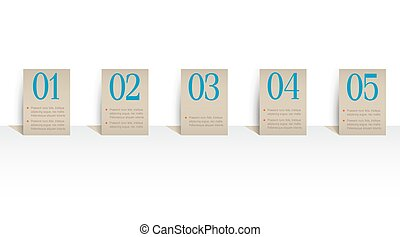 Paper numbered banners Vector design template