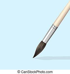 Paint Brush. Vector EPS10