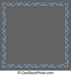 Simple paper frame with swirls for design