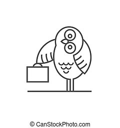 Owl emblem -symbol for business Vector EPS10