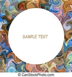 Colorful painted background with round frame for text