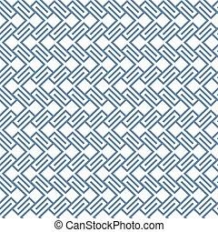 Geometric wattled seamless pattern