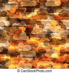 Seamless pattern wth transparent clouds in warm colors...