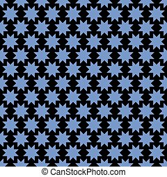 Abstract seamless pattern with stylized stars