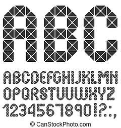 Mosaic original Alphabet