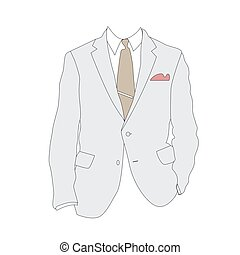 Silhouette of business suit