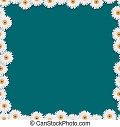 Floral frame with camomiles