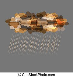 Dark transparent clouds with rain Vector EPS10
