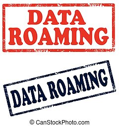 Data Roaming-stamps - Set of stamps with text Data...